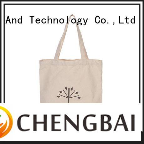 Chengbai wholesale cotton tote bag international market for daily using