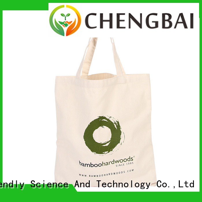 Chengbai custom organic cotton tote bags win-win cooperation for gift