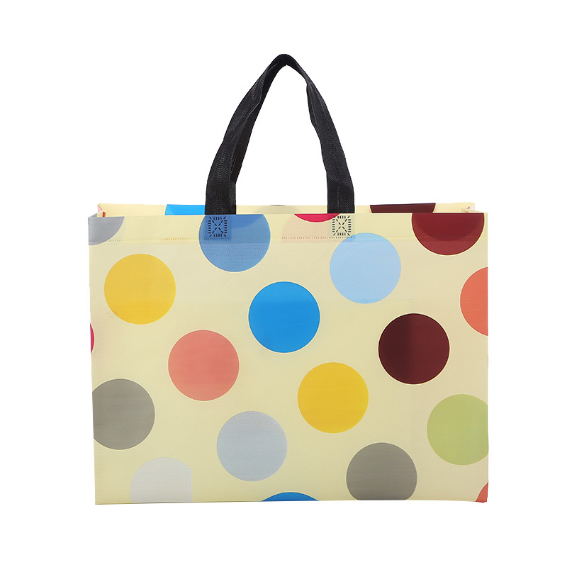 Hot sale new design promotional ultrasonic laminated customized non woven shopping bag
