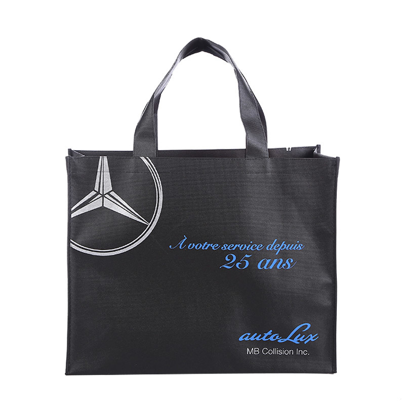 Wholesale silk print non woven bag with customized design shopping bag