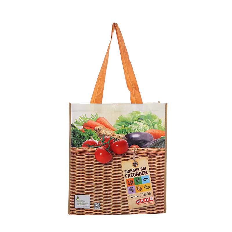 Customized size and logo print recycled women shopping bag portable outdoor use pp woven bags