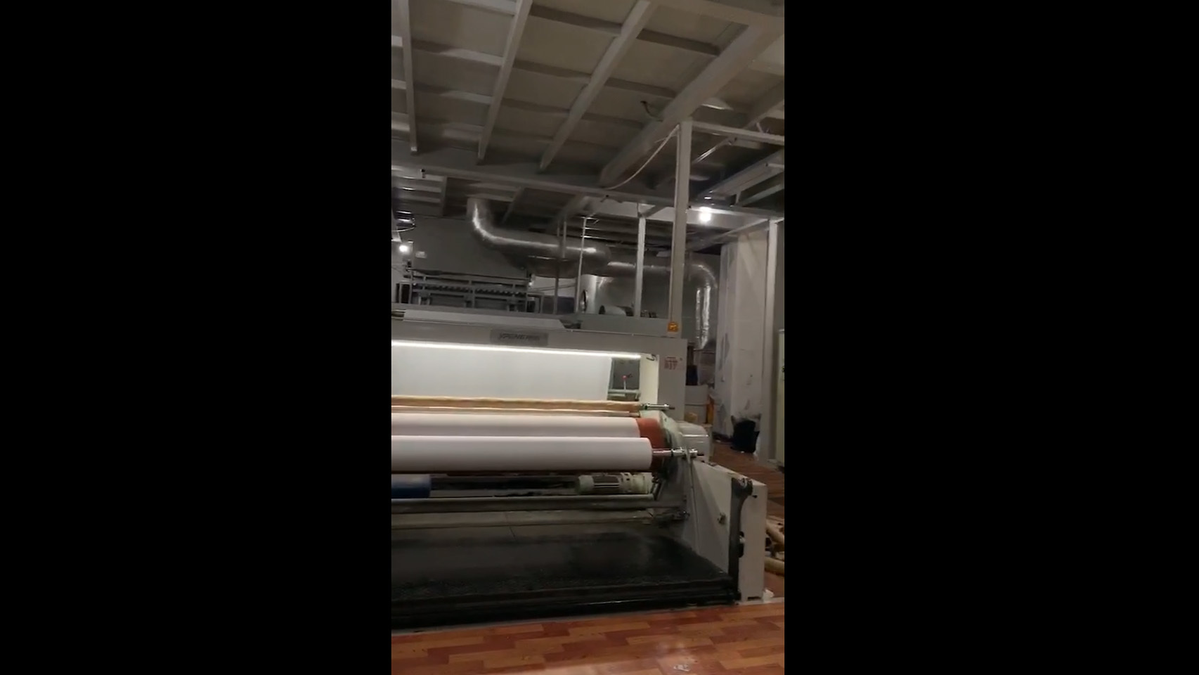 Non woven fabric making