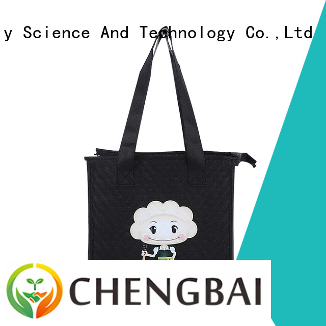 Low MOQ good quality factory price outdoor use ice bag with zipper portable non woven cooler bag