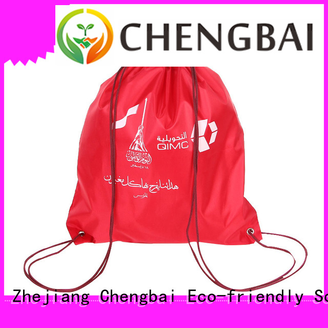 Chengbai sale 210d polyester drawstring bag factory for promotion