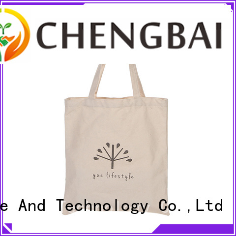 Chengbai fashion reusable cotton shopping bags Supply for daily using