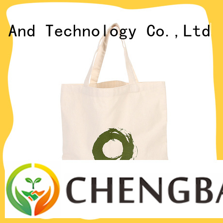 Chengbai fashion promotional cotton bags win-win cooperation for daily necessities