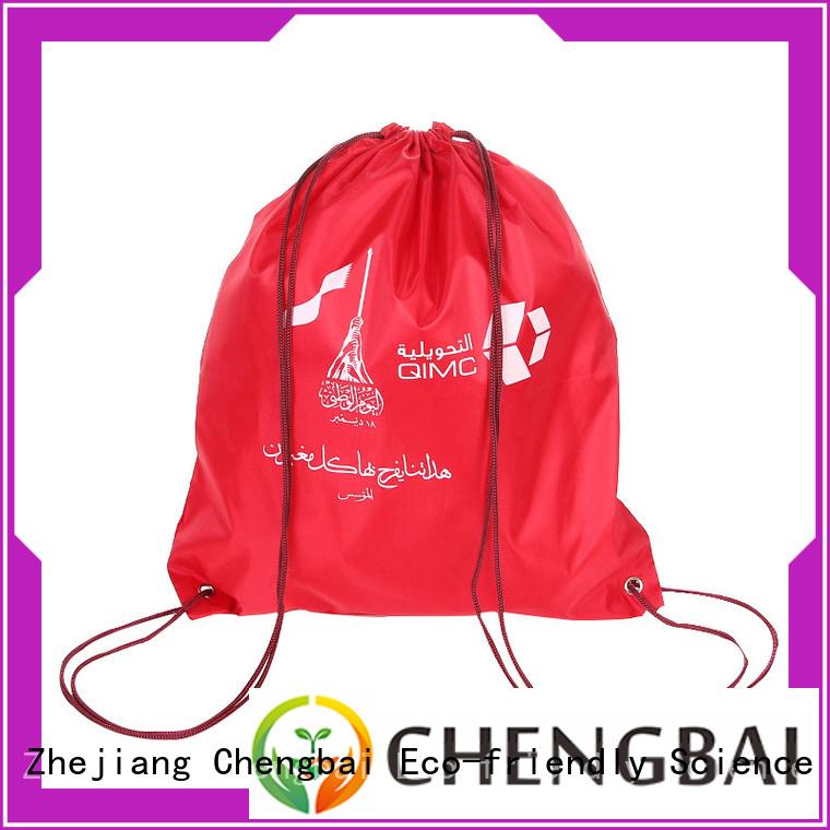 Factory price custom printed black non woven drawstring gift bag