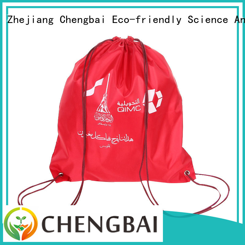 Chengbai print polyester bag factory directly sale for promotion