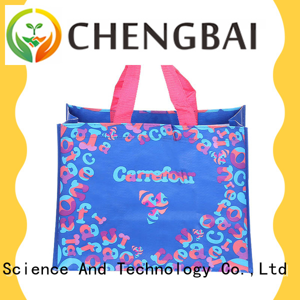 eco-friendly PP woven shopping bags size for business for packing