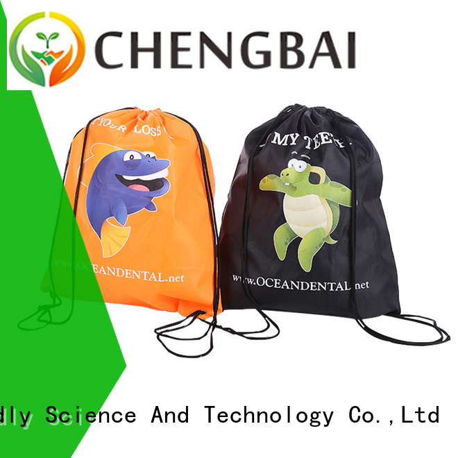 Chengbai fashion polyester drawstring bag factory directly sale for promotion