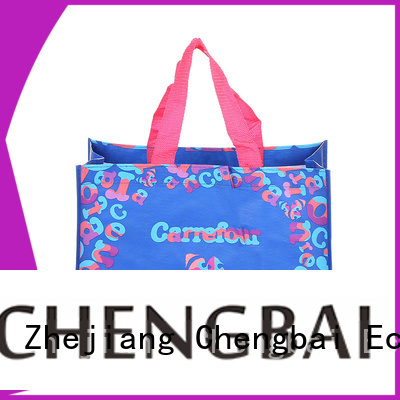 Chengbai eco-friendly pp woven shopping bag order now for packing