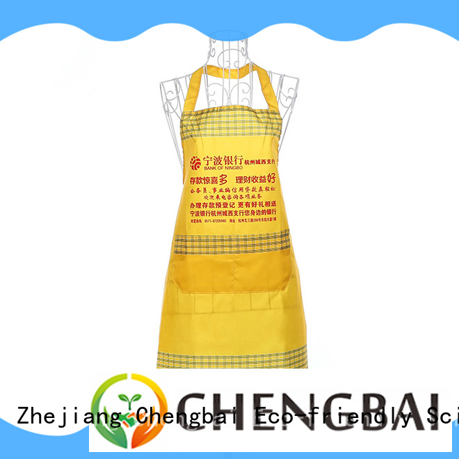Polyester apron waterproof advertising with customized logo and design foldable apron