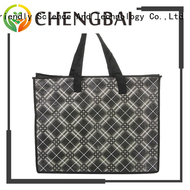 Chengbai supermarket trendy reusable shopping bags trendy designs for daily necessities
