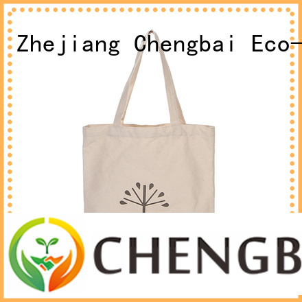 Chengbai white cotton bag for business for daily using