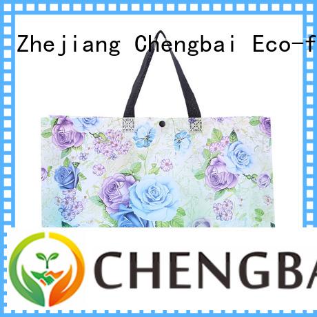 Chengbai foil black woven bag bulk purchase for advertising