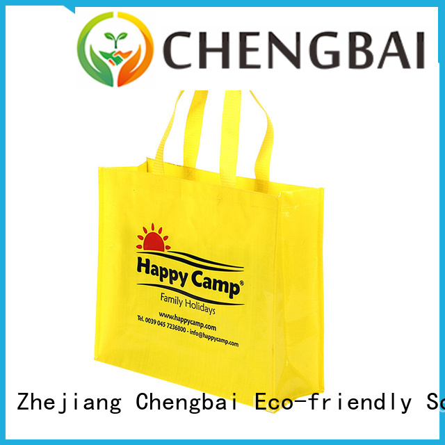 Chengbai eco-friendly pp woven tote bag company for packing