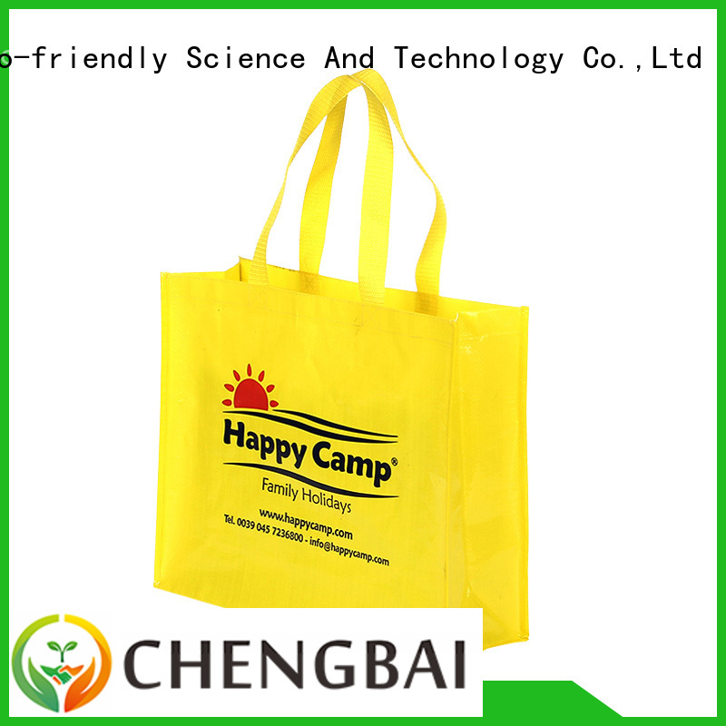 Chengbai print laminated pp woven bag order now for packing