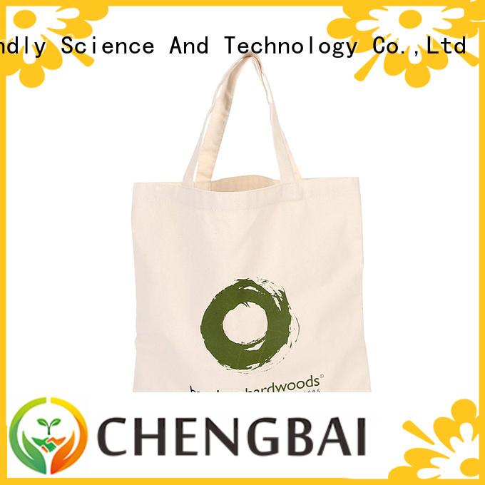 Chengbai print canvas handbags factory for gift
