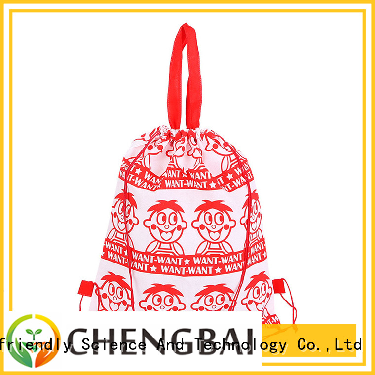 trendy designs polyester drawstring bag customized design for packing