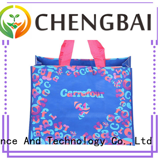 Wholesale pp woven shopping bag woven factory for daily necessities