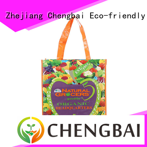 Chengbai design pp woven shopping bag order now for daily necessities