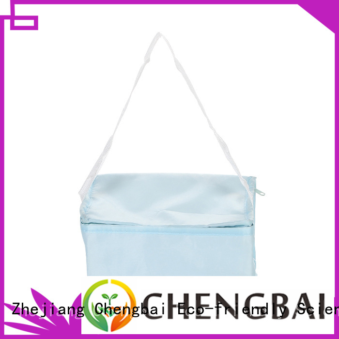 Factory price wholesale food delivery non woven bag durable ice bag with zipper cooler bag
