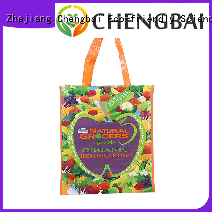 Chengbai fashion pp woven tote bag company for packing
