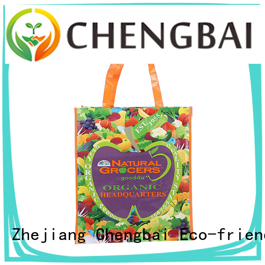 Chengbai portable pp woven tote bag factory for packing