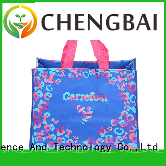 Chengbai customized pp woven tote bag manufacturers for daily necessities