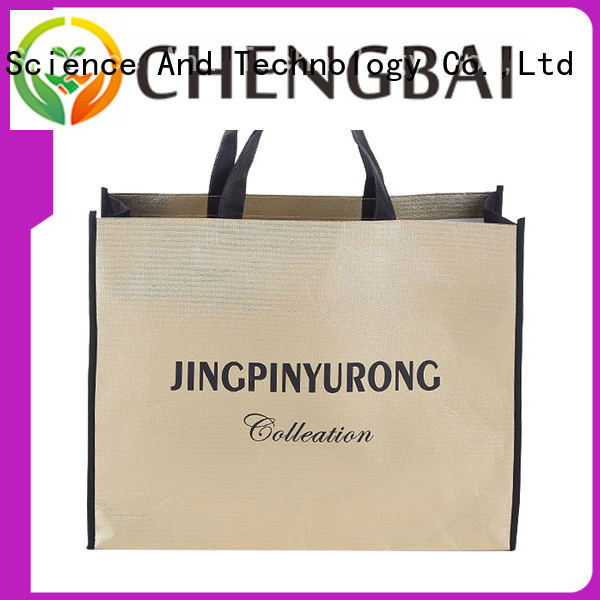 Chengbai waterproof non woven bag printing design wholesale for advertising