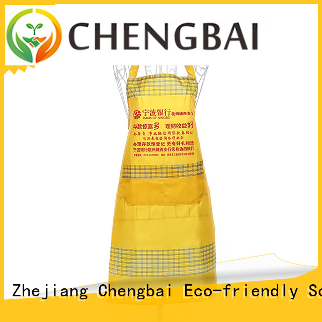 Chengbai best quality non woven apron factory for daily necessities