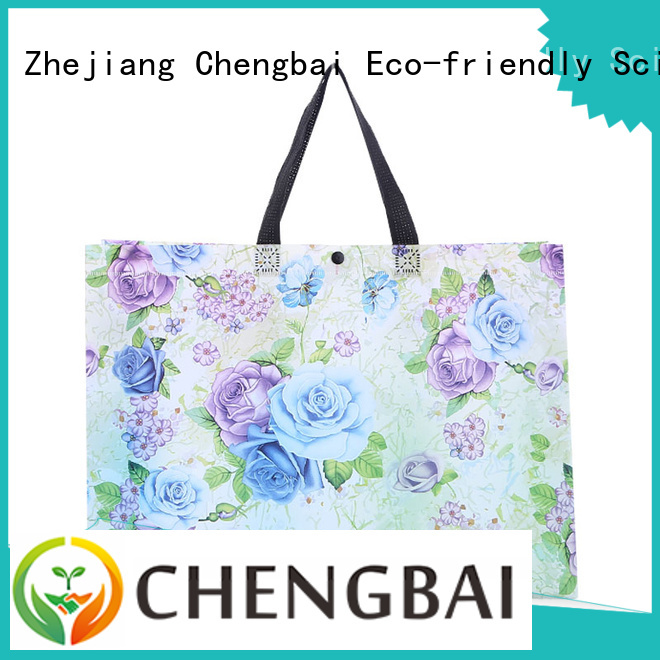 Chengbai price woven grocery bags factory for shopping