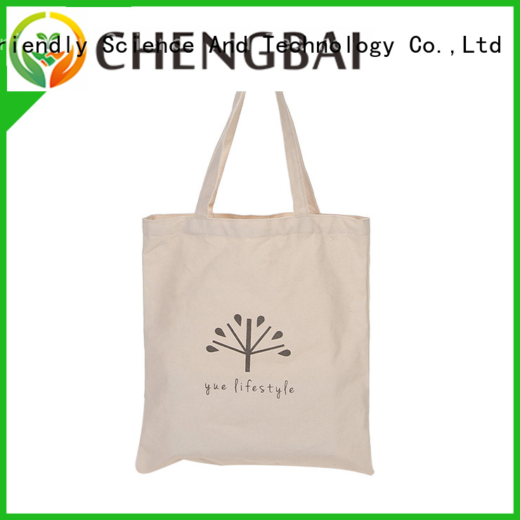 Chengbai recycled cotton tote win-win cooperation for daily using