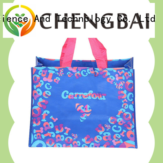 Chengbai portable laminated pp woven bag great deal for packing