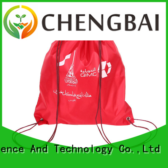 Chengbai low polyester drawstring bag personalized for promotion