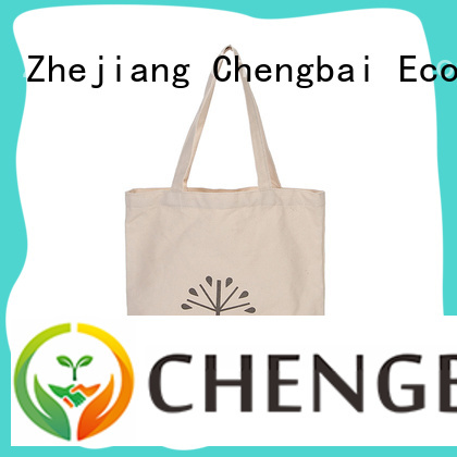 Chengbai custom reusable canvas shopping bags factory for daily necessities