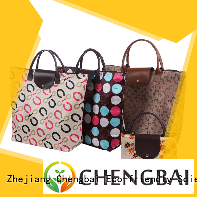 Chengbai printing fashion shopping bag trendy designs for daily necessities