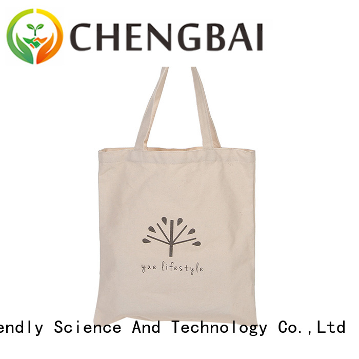 Chengbai canvas cotton handbags company for gift