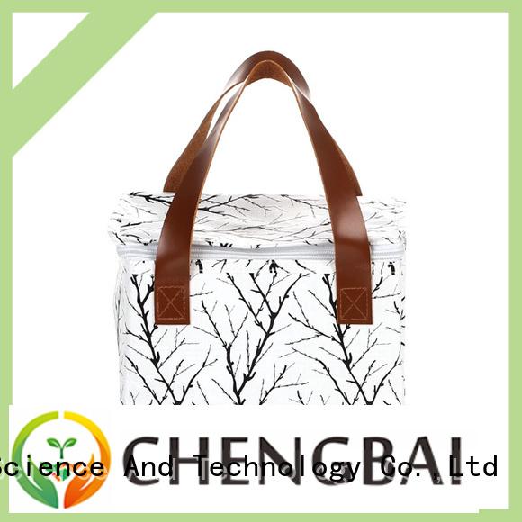 Chengbai custom logo print folding cooler bag source now for daily necessities