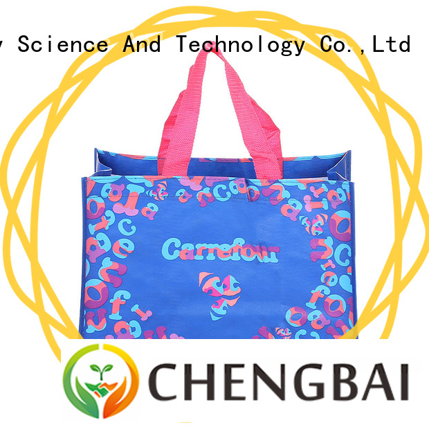 Chengbai eco-friendly wholesale pp woven bags Suppliers for daily necessities