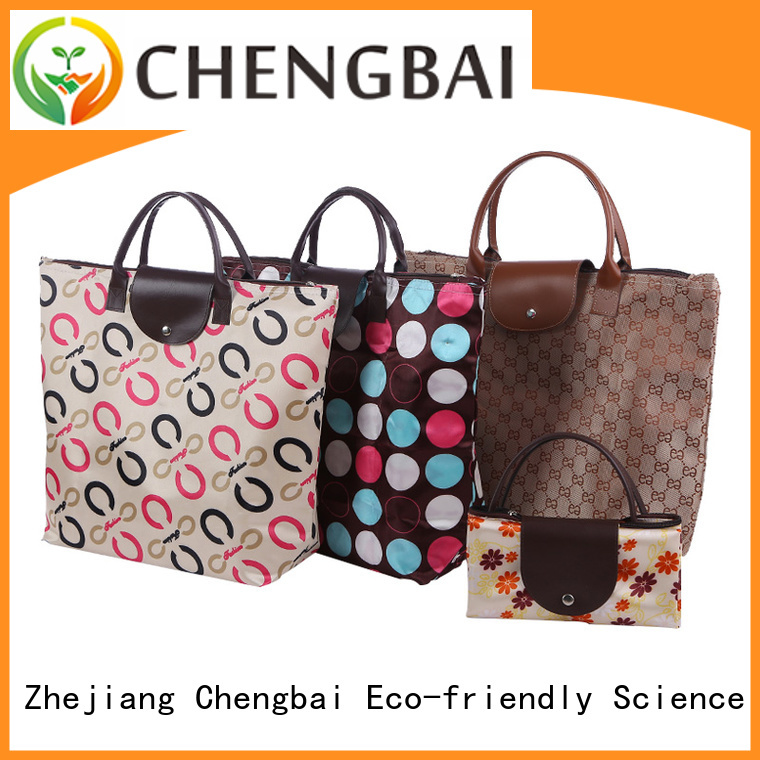 Chengbai logo shopping bags wholesale trendy designs for daily necessities