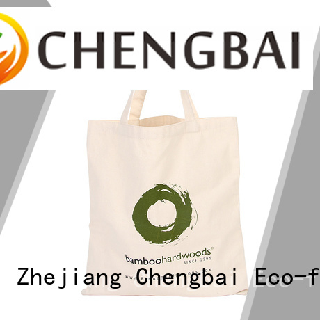 Chengbai fashion custom canvas tote bags international market for daily necessities