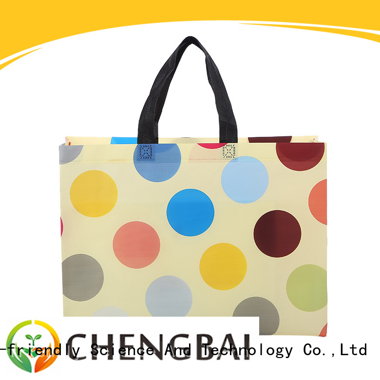 Chengbai reusable non woven tote bags with logo factory for packing
