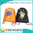 Fashion wholesale factory price customized 190T polyester backpack style drawstring bag