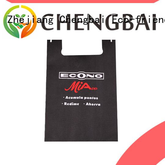 Chengbai portable drawstring non woven tote bags wholesale for shopping