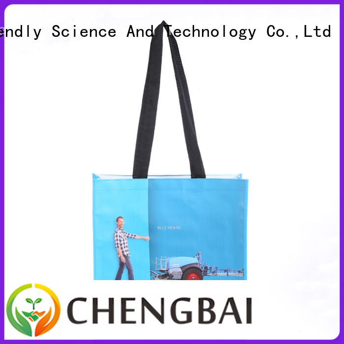 Chengbai eco-friendly pp woven laminated bag for business for daily necessities
