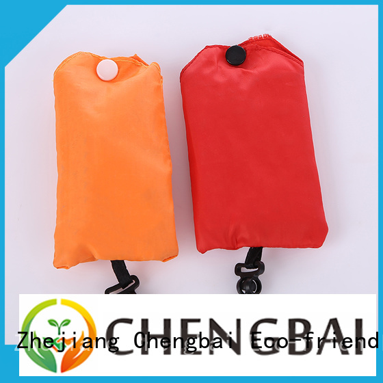 Chengbai custom polyester foldable bag factory for shopping