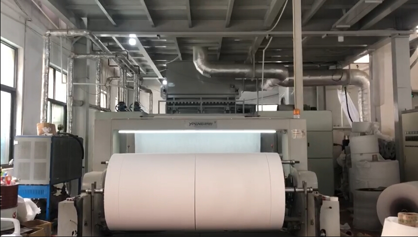 production of non woven fabric