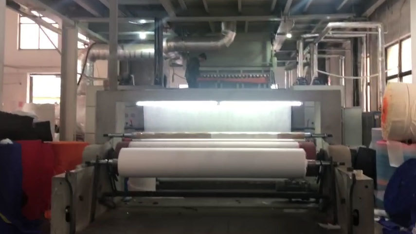producing of non woven fabric