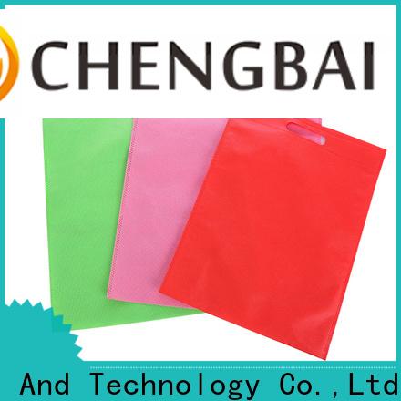 Chengbai non non woven u cut bag wholesale for advertising
